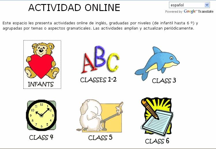 WEBS interesantes para la clase de INGLÉS (Infantil y Primaria)